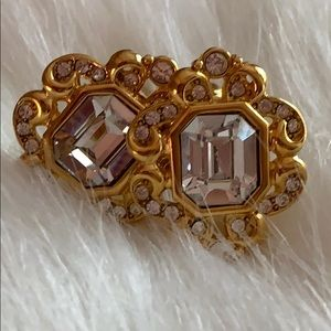 4 for $25- VTG Monet Gold Tone & Crystal Earrings